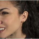 VFJ Gold-plated Silver Earrings Ball 8mm