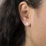 VFJ Sterling Silver Puzzle Earrings