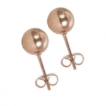 VFJ Rose Gold-plated Silver Earrings Ball