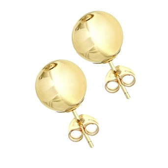 VFJ Gold-plated Silver Earrings Ball 8mm