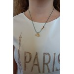 Jt Gold plated silver rabbit children necklace