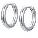 Jt Men's small stainless steel hoop earrings 1.3cm