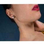 Jt Ατσάλινα καρφωτά σκουλαρίκια πεταλούδες διπλές