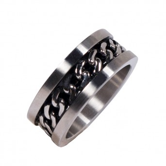 SL Men's Chain Band Stainless Steel Ring