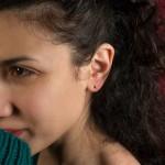 Jt Unisex small stud silver yin yang earrings