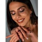 Jt Ασημένιο δαχτυλίδι Swarovski φούξια