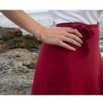 AD Γυναικείο βραχιόλι αλυσίδα συνδετήρας ατσάλι λεπτή