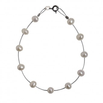 Jt Silver bracelet with pearls