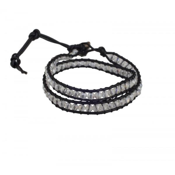 Jt White Chan Luu style beaded leather bracelet