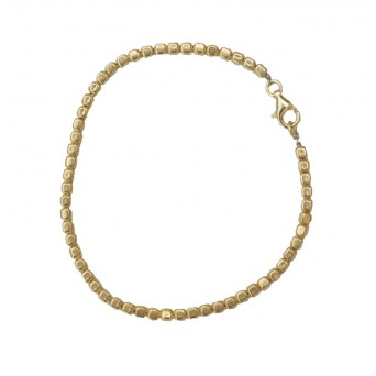 Jt Gold plated silver cubes chain bracelet