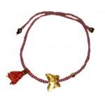 Jt Gold Plated Silver Butterfly March Bracelet