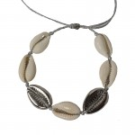 Jt Statement silver plated bronze bracelet seashells