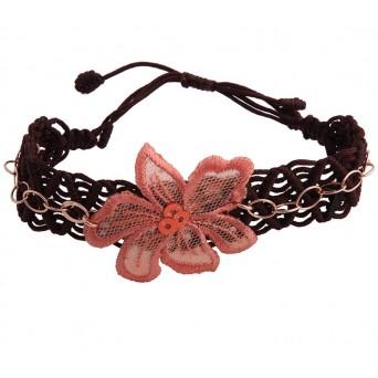 Jt Silver salmon bracelet macrame flower
