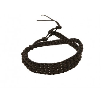 Jt Lava Chan Luu style beaded leather bracelet