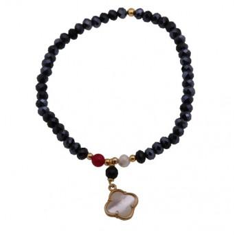 Jt Gold plated silver cross charm bracelet