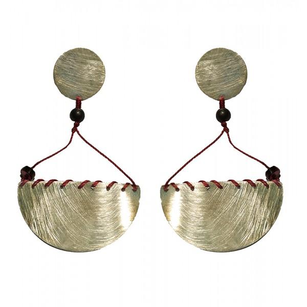Krini Aσημένια σκουλαρίκια μισοφέγγαρο