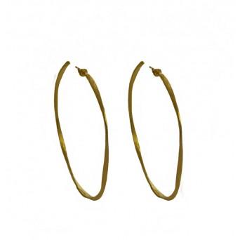 Krini Gold plated silver hoop earrings 4,5cm