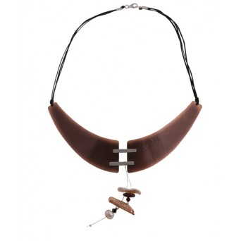 Krini Handmade silver and copper collar necklace