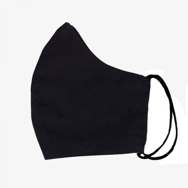 Jt Handmade black cloth protection face mask
