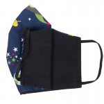 Jt Handmade cloth 'space' face mask for kids
