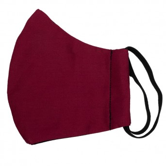 Jt Handmade bordeaux cloth protection face mask