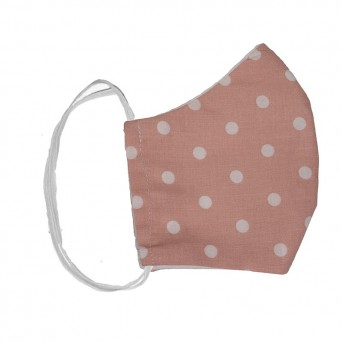 Jt Handmade cloth face mask pink polka dot