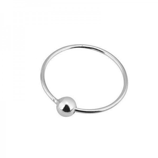 AD Silver Nose Hoop Ring 8.5mm with clip