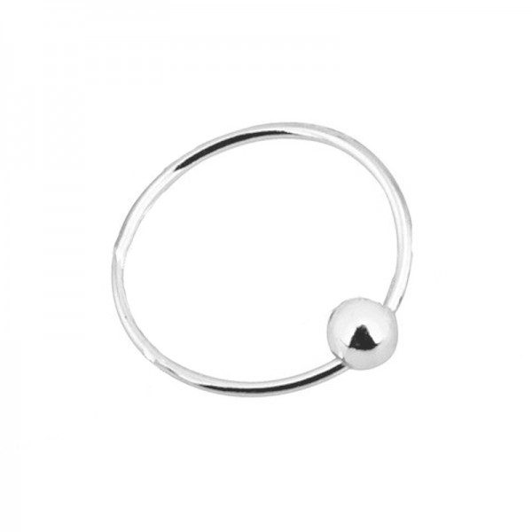 AD Silver Nose Hoop Ring 10mm with clip