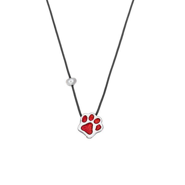 Onirolithi Silver dog paws necklace