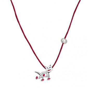 Onirolithi Silver cat necklace