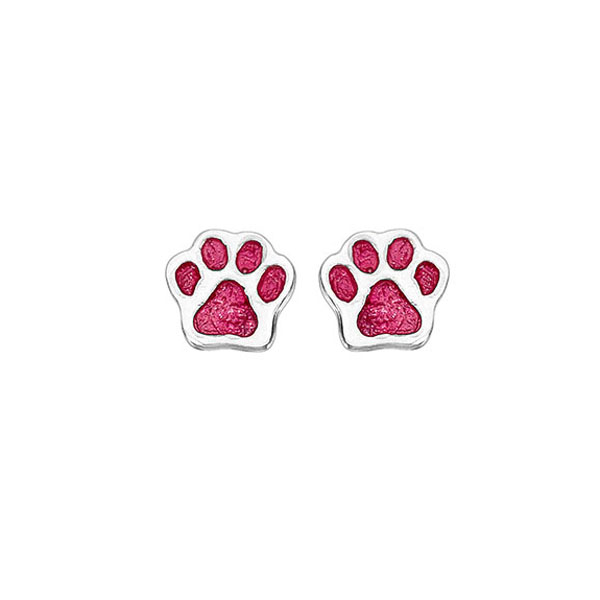 Onirolithi Silver dog paws stud earrings