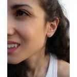 Onirolithi Ασημένια καρφωτά σκουλαρίκια σταράκια με σμάλτο