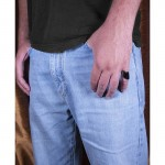 RNG Aσημένιο δαχτυλίδι σωλήνας με μαύρο πλατίνωμα