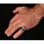Jt Ανδρικό ασημένιο δαχτυλίδι κεφαλή Μέδουσας