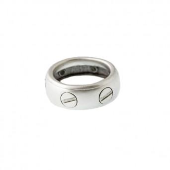 Jt Ασημένιο ανδρικό δαχτυλίδι βέρα βίδα περιστρεφόμενο