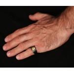 Jt  Ανδρικό σεβαλιέ δαχτυλίδι κεφαλή Μεγάλου Αλεξάνδρου