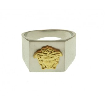 Jt Men's Signet Sterling Silver Ring Medusa