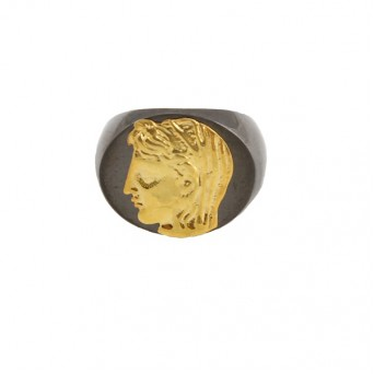 Jt Men's Signet Silver Ring Alexander the Great