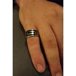 Jt Men's Sterling Silver Greek Meander Ring
