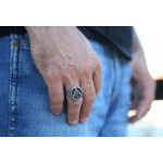 Jt Men's Signet Meander Ring Square and Compasses