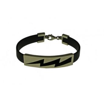 Jt Men's Sterling Silver Identity Bracelet