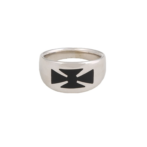 Jt sterling silver man`s ring 925o with cross