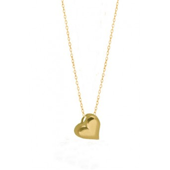 Jt Gold plated silver heart necklace