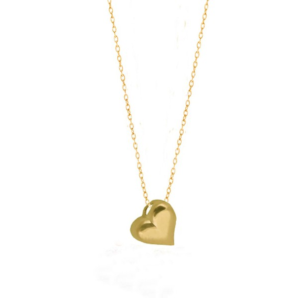 Cr Gold plated silver heart necklace