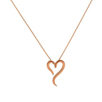 Jt Rose sterling silver heart chain necklace