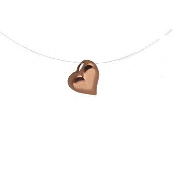 Jt Rose silver heart charm necklace