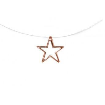 Jt Rose gold silver star necklace