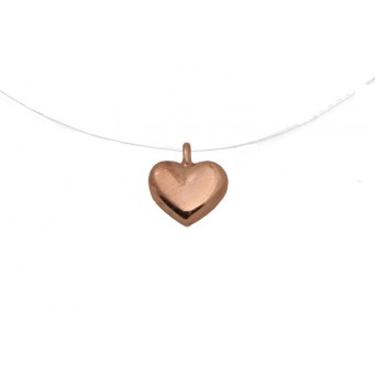 Jt Rose gold silver heart  necklace