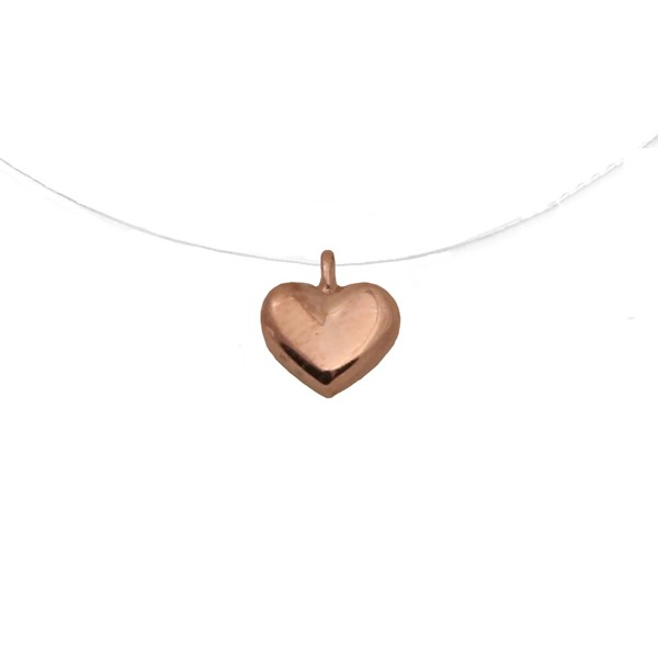 Cr Rose gold silver heart  necklace