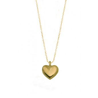 Jt Gold plated silver heart charm necklace